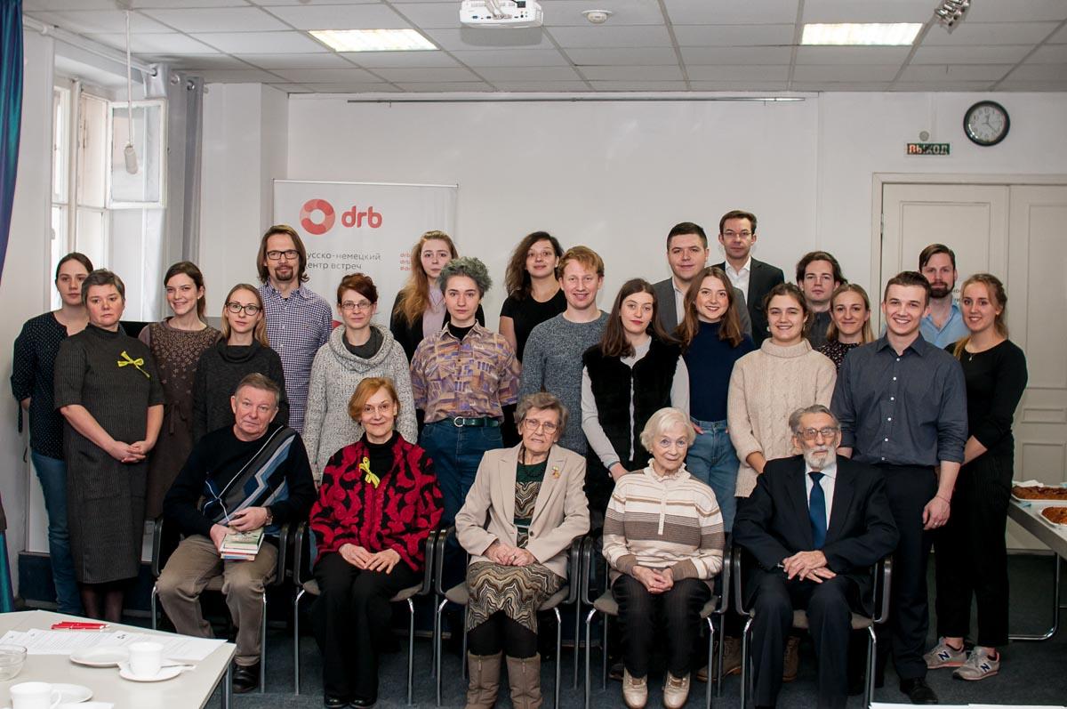 Участники и организаторы мероприятий в честь 75-ой годовщины снятия Блокады. Февраль 2019