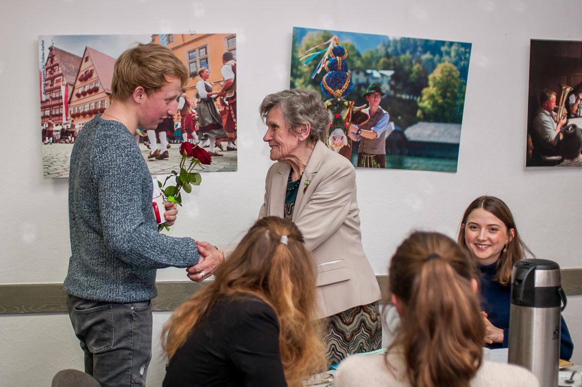 Встреча немецких студентов с блокадниками в drb. Февраль 2019